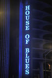 "A Neon Sign That Reads ""House of Blues"" Photographic Print"