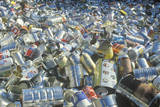 An Assortment of Empty Aluminum Cans Waiting for Recycling in St. Louis, Missouri Photographic Print