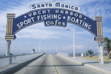 "A Sign That Reads ""Santa Monica Yacht Harbor"" Photographic Print"