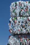Bundles of Plastic at Recycling Plant Photographic Print
