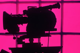Silhouetted Motion Picture Camera, Los Angeles, California Photographic Print