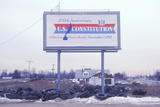 """A Sign That Reads """"200th Anniversary U.S. Constitution"""" Photographic Print"""