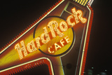 "A Neon Sign That Reads ""Hard Rock Cafe"" Photographic Print"