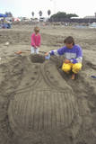 Sand Castle Sculpting Contest, Cayucos, California Photographic Print