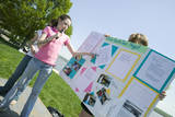 Female Student Discusses Earth Force Environmental Project on Earth Day, Alexandria, Virginia Photographic Print