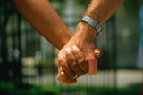 Close-Up of Holding Hands at Hands across America Photographic Print