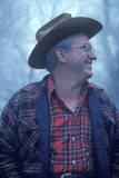 Rural Man's Profile at Monticello, VA Photographic Print