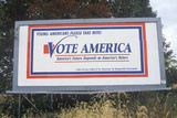"""A Sign That Reads """"Vote America"""" Photographic Print"""
