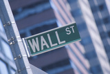 "A Sign That Reads ""Wall St"" Photographic Print"