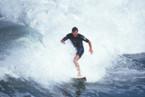 Man Surfing at Huntington Beach, California Photographic Print