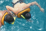 Couple Snorkeling in Key West Florida Photographic Print