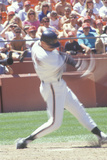 Will Clark Swings Baseball Bat at Candlestick Park in San Francisco, California Photographic Print