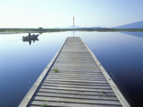 Fishing Dock on Klamath Lake, Rocky Point, Oregon Photographic Print