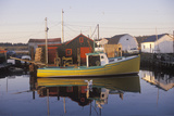 Sunrise on Fishing Village, Halifax, Nova Scotia, Canada Photographic Print