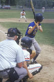 Home Base with Batter Striking Out, Little League Baseball, Hebron, CT Photographic Print