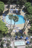 Aerial View of Sheraton Hotel Pool, Universal City, CA Photographic Print