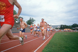 View from Infield of Runners at the Senior Olympics in St. Louis, Missouri Photographic Print