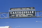 "A Sign That Reads ""Artichoke Festival"" Photographic Print"