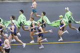 Overhead View of Runners in Los Angeles Marathon, Exposition Blvd. Los Angeles, CA Photographic Print