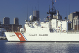 United States Coast Guard Ship, Boston Harbor, Massachusetts Photographic Print