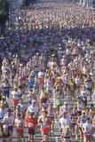 Runners Crossing Finish Line, Los Angeles Marathon, Los Angeles, CA Photographic Print