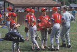 Group of Little League Baseball Players with Gear, Hebron, CT Photographic Print