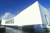 USS Arizona Memorial Museum, Pearl Harbor, Oahu, Hawaii Lámina fotográfica
