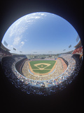 Baseball Stadium Seen Through Fisheye Lens Photographic Print