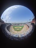 Baseball Stadium Seen Through Fisheye Lens Photographic Print
