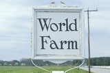 "A Sign That Reads ""World Farm"" Photographic Print"