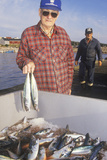 Fisherman with Catch of Mackerel, Neil's Harbor, Cape Breton, Nova Scotia, Canada Photographic Print