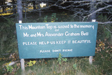 Site of the Grave of Alexander Graham Bell, Cape Breton Island, Nova Scotia Photographic Print