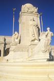Union Station Exterior with Statue of Christopher Columbus Statue, Washington, DC Lámina fotográfica