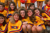 Group of Smiling All American Cheerleaders in New York Photographic Print