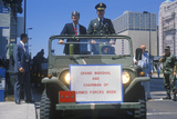 Military Officials in Jeep, United States Army Parade, Chicago, Illinois Photographic Print