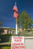 Exterior Entrance to a Polling Place, CA Photographic Print