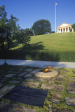 Eternal Flame at the Tomb of President John F. Kennedy, Arlington Cemetery, Washington, D.C. Photographic Print