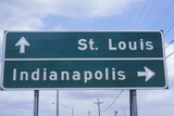 "A Sign That Reads ""St. Louis/Indianapolis"" Photographic Print"