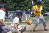Little League Player Up at Bat, Little League Game, Hebron, CT Photographic Print