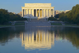 The Lincoln Memorial and Reflecting Pond at Sunrise in Washington D.C. Photographic Print