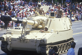 Two Soldiers in Military Tank, Desert Storm Victory Parade, Washington, D.C. Photographic Print