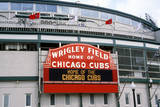 Close-Up of Signage at Wrigley Field, Illinois, Home of Chicago Cubs Photographic Print