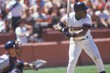Professional Baseball Player K. Mitchell Up at Bat, CAndlestick Park, CA Photographic Print