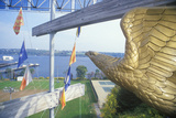 Statue of Golden Eagle Overlooking Water, New London, Connecticut Photographic Print