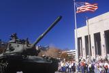 Tank in Veteran's Day Parade, St. Louis, Missouri Photographic Print