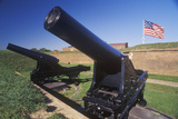 Cannon Outside Fort Mchenry National Monument in Baltimore, MD Photographic Print