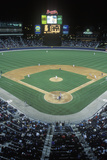 Overview of Diamond and Full Bleachers During a Night Baseball Game, Turner Field, Atlanta, Georgia Photographic Print