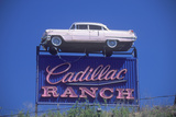 "A Sign That Reads ""Cadillac Ranch"" Reproduction photographique"