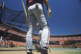 Professional Baseball Players at Batting Practice, CAndlestick Park, San Francisco, CA Photographic Print