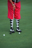 Golfer Wearing Argyle Socks and Pink Golf Pants, Ojai, California Photographic Print
